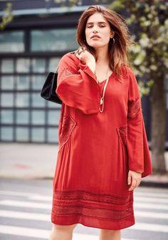 46 48 Naveed CREATEUR tunique chemisier shirt superposé a-Forme Chemise Longue 1