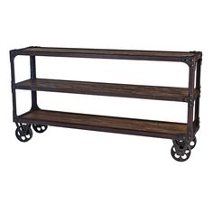 New Rustics Rustic Industrial Reclaimed-Wood Sofa Table | Pure Home