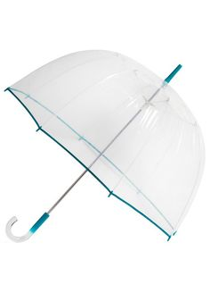 Un-teal the Clouds Clear Umbrella- I have one of these, but without the teal accents, and I get so many compliments on it.  It reminds us of our childhoods in the 60s and 70s!