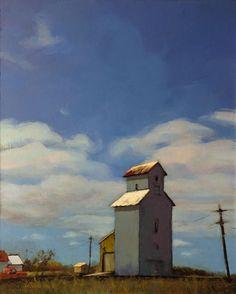 "A Painting Today - ""Alongside Highway by Karin Jurick Fantasy Landscape, Urban Landscape, Landscape Art, Landscape Paintings, Landscapes, Landscape Illustration, Watercolor Landscape, Illustration Art, Building Painting"