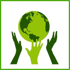 eco green solidarity icon by @dominiquechappard, An eco green solidarity icon with a globe and three hands around it, on @openclipart