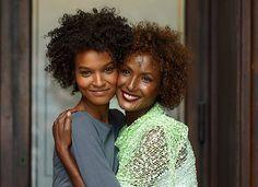 Liya Kebede (Ethiopian model on left) and Waris Dirie (Somali model on right)