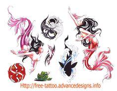 Mermaid And Fish Tattoo Design Ideas