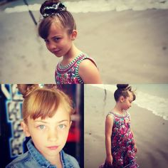 Introducing beautiful Scarlett looking fabulous by the sea shore in a floral Monsoon Dress with a Next Jean Jacket... Her hair in a bow festooned with glitter by Sonia @belissima_hair_and_beauty thank you ladies #children #model #glitter #summer #dress #weymouth #dorset #denimjacket #sueryder #instalove #charityshop #littlemoorsueryder