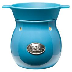 Bleu Velata Fondue Warmer  This sophisticated warmer is glazed in deep, glossy blue.