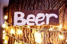 beer wedding sign