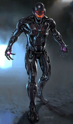 Marvel Cinematic Universe conceptual artist Phil Saunders has shared these unused Ultron designs for Avengers: Age of Ultron. Marvel Comics Superheroes, Marvel Villains, Marvel Heroes, Marvel Characters, Marvel Avengers, Ultron Marvel, Age Of Ultron, Ultron Comic, Marvel Universe