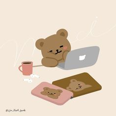 Cute Pastel Wallpaper, Kawaii Wallpaper, Cute Wallpaper Backgrounds, Wallpaper Iphone Cute, Cute Cartoon Wallpapers, Cute Kawaii Drawings, Kawaii Art, Kawaii Stickers, Cute Stickers