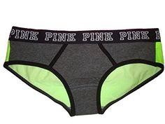 Victorias Secret Womens PINK Logo Hipster Panty Medium Grey  Lemond *** Click image for more details.