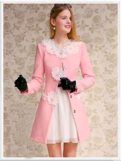 Morpheus Boutique  - Pink Floral Long Sleeve Button Down Designer Jacket Coat, CA$184.60 (http://www.morpheusboutique.com/pink-floral-long-sleeve-button-down-designer-jacket-coat/)
