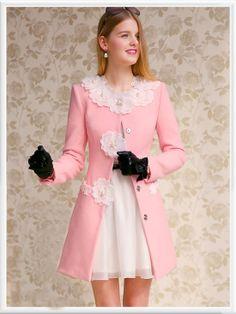 Morpheus Boutique  - Pink Floral Long Sleeve Button Down Designer Jacket Coat, CA$184.60 (http://www.morpheusboutique.com/pink-floral-long-sleeve-button-down-designer-jacket-coat/)