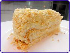 Торт Наполеон с кремом - Рецепты с фото