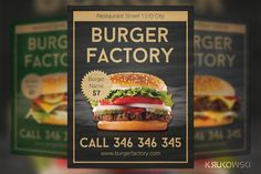 Classic Burger Flyer by Krukowski on Creative Market