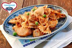 #Pasta al #sugo con #porcini, #piselli e #carnetrita   #Cirio @hannekeharkema  #foodblogger #pomodoro #ricetta #recipes #tomato #recipe #italianrecipe