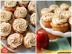 Apple Caramel Cupcakes with Cinnamon Buttercream @tidymom