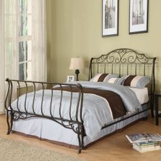 Queen Size Sleigh Bed Queen Bedroom Furniture Sleigh Bed Set Iron Bed Frame Bed