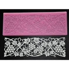FOUR-C Sweet Lace Mat Cake Craft Silicone Mold Sugarcraft Tools Color Pink *** Trust me, this is great! Click the image. : Bakeware