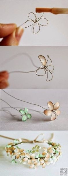 11. Cool Nail #Polish Flowers for DIY #Jewelry - 26 of the Best Pinterest #Crafts You've Ever Seen ... → DIY #Pinterest