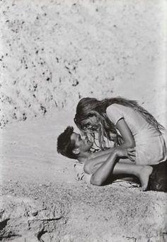 Beach kiss in the sun