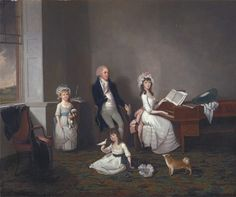 John Richard Comyns of Hylands, Essex, with His Daughters by John Greenwood, 1775