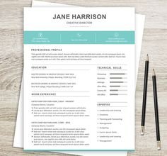 Resume Template And Cover Letter  Etsy Group Board  Amazing