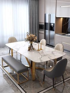 Dinning Table Design, Dining Room Table Decor, Dining Table In Kitchen, Home Decor Kitchen, Room Kitchen, Kitchen Furniture, Dinning Table Centerpiece, Corner Dining Table, Steel Dining Table