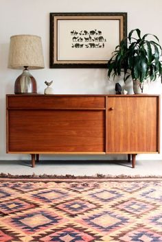 50s retro console table