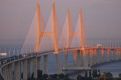 Vasco da Gama Bridge, Lisbon, Portugal!
