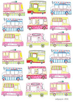 Just back from my holiday- borrowed my kids colouring pens whilst away and did some drawings, turned them into a fun summer pattern x