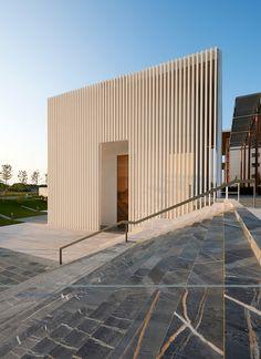 Design team: Architecture: Aymeric Zublena and Traversi+Traversi Architetti  Artist: Stefano Arienti  Precast Concrete Enginneering and Production Specialist: Styl-Comp Group Client: Ospedale Giovanni XXIII