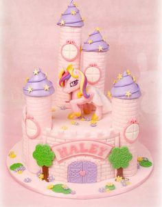 Unicorn and castle cake from The Bunny Cake