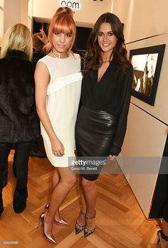 <a gi-track='captionPersonalityLinkClicked' href=/galleries/search?phrase=Amber+Le+Bon&family=editorial&specificpeople=1103030 ng-click='$event.stopPropagation()'>Amber Le Bon</a> (L) and Kim Johnson attend the APM Monaco flagship store opening on South Molton Street on February 11, 2016 in London, England.