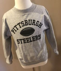 e1b4c2bc2 Pittsburgh Steelers Size 5 6 Medium Sweatshirt Gray NFL Girl Boy Unisex   Reebok  PittsburghSteelers