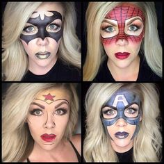 Halloween ideas using Limelight by Alcone makeup. #makeup #halloween #superheroes