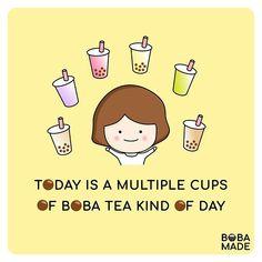 Bubble Tea Shop, Bubble Milk Tea, Bubble Drink, Bubble Boba, Boba Smoothie, Thai Milk Tea, Tea Quotes, Cafe Wall, Food Puns