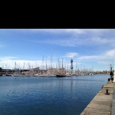 Barcelona harbour and lighthouse