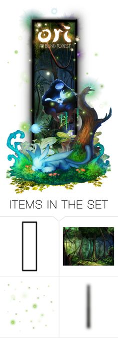 """""""Ori & The Blind Forest"""" by girlinthebigbox ❤ liked on Polyvore featuring art, cute, colourful, videogames and oriandtheblindforest"""