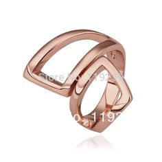 LR535 Top Quality Rose Gold Plated Hollow Adjustable Triangle Rings Designer Item Women Fashion Brand Jewelry Bijoux Accessories