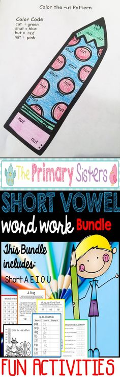 Word work for Kindergarten and 1st- Fun engaging activities to teach CVC…