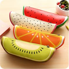 New Arrival Stationery Store Cute Fruit Pattern Pencil Cases School Office Supplies High Quality PU Leather Cartoon Pencil Bags Stationary School, Cute Stationary, Pencil Bags, Pencil Pouch, Leather Pencil Case, Pu Leather, Cute Pencil Case, Cute Fruit, Fruit Pattern