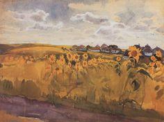 workman's tumblr - art-centric:   Autumn  Zinaida Serebriakova, 1910