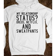Wait but this is true for me and I'm married...? RELATIONSHIP STATUS HOODIE SWEATSHIRT ($41.99)