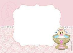 Adorable Kit de Bautismo de Nena, para Imprimir Gratis. Puedes hacer tarjetas , invitaciones , etiquetas , toppers, conos y...