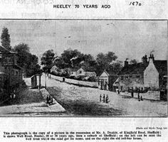 Chesterfield Road at bottom of Albert Road, Heeley Toll Bar on right, Crown Inn on left Sheffield, Old Things, Chesterfield, Family History, Pictures, Crown, Bar, Image, Photos