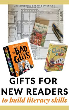 Fun and creative gifts for kids that build literacy skills recommended by a reading specialist and teacher perfect for all gift-giving occasions. Books For Beginning Readers, New Readers, Gifts For Readers, Gifts For Kids, Literacy Skills, Reading Activities, Literacy Activities, Homeschooling Resources, Holiday Activities