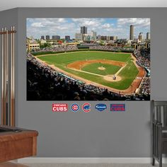 MLB Chicago Cubs Wrigley Field Stadium Mural Fathead Wall Graphic