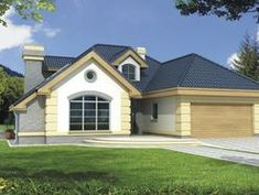 DOM.PL™ - Projekt domu HR Lawenda BP 2-garaże CE - DOM TZ9-48 - gotowy koszt budowy Home Fashion, House Design, Mansions, House Styles, Home Decor, Two Story Houses, Build Your House, Decoration Home, Manor Houses
