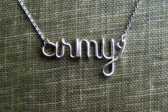 Military Pride Jewelry Sterling Silver Necklace Military Support Wives USAF USMC Navy USCG Army Wives GirlFriends Fiances Military Spouse on Etsy, $28.00