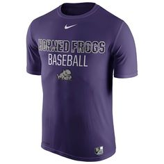 Men's Nike TCU Horned Frogs Team Issue Baseball Legend Dri-FIT Tee, Size:
