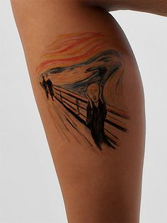 Now available at https://www.AsIfTattooed.com: The Scream Art Ta.... Check it out here! http://www.asiftattooed.com/products/the-scream?utm_campaign=social_autopilot&utm_source=pin&utm_medium=pin